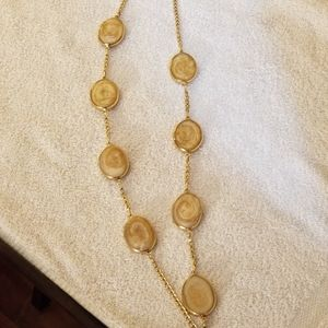 Chico's Marcela Long Stone Stateroom Necklace NWT